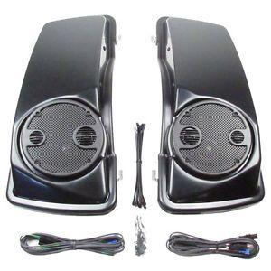 J M Audio Rokker 7 25 Saddlebag Lid Speaker Kit Harley Davidson Touring 98 Up