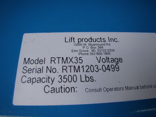 Lift Products 3500 lb Pneumatic Lift Table Roto Max Turntables RTMX35