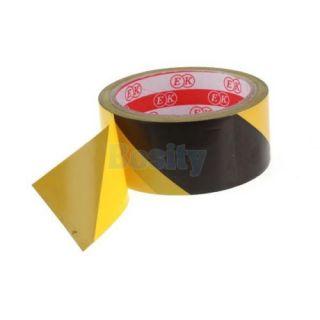 54ft Vinyl Floor Boundary Safety Caution Hazard Warning Tape Black Yellow Stripe