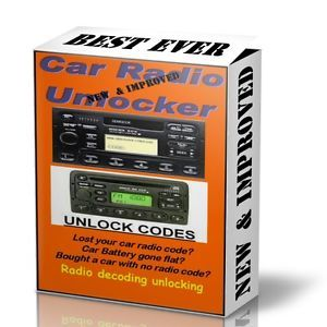New Improved Ultimate Car Audio Radio Stereo Code Unlock Free Web