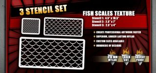 Fish Scales Airbrush Stencil Template
