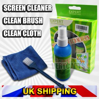 LCD PC Laptop Computer Glass Monitor Screen Keyboard Cleaner Kit Set Pack