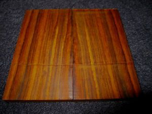 Exotic Cocobolo Wood Pistol Grips 1911 Handles Blanks Knife Scales