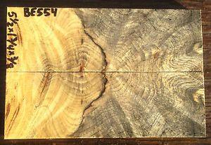 FBI Buckeye Burl Wood Knife Scales Handle Blank Gun Pistol Grips 3 8 BE554