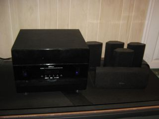 Paramax P 510 5 1 A V Surround Sound Home Theater System Receiver w 5 Speakers