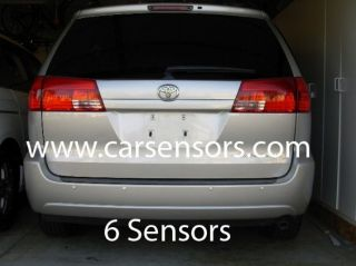 Toyota Sienna 6 Sensors for Rear Bumper Reverse Backup Sensor Color Coded New