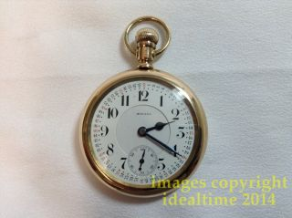 Antique 1910 Howard Series 5 19 Jewel Railroad Pocket Watch in Howard GF Case