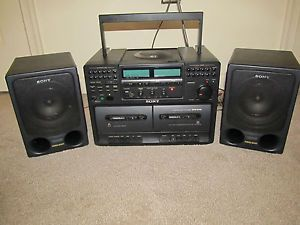 Sony Boombox and Shelf Stereo System CD Player Am FM Stereo Dual Tape Deck