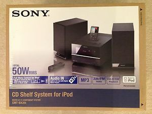 Sony CMT BX20I CD Shelf System for iPod 50W RMS Player Brand New Speakers Hi Fi