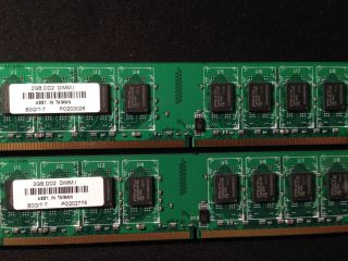 4GB 2x2GB 2Rx8 SDRAM PC2 5300U DDR2 667 Desktop Low Density PNY