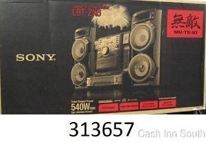 Sony LBT ZX6 Muteki 560W Shelf System 5 CD MP3 Radio Boombox iPod Speaker Dock