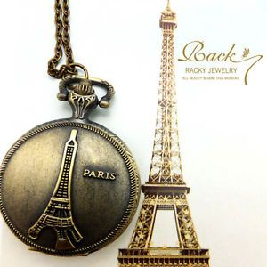 Eiffel Tower Pocket Watch