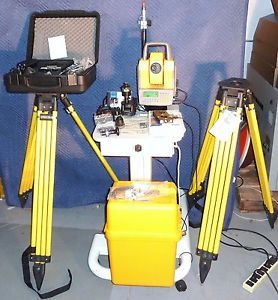Trimble 5602 DR200 Geodimeter CU Total Station Tripods Power Pack Kit More