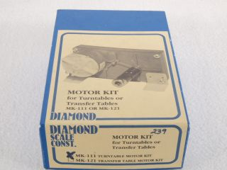 Diamond Scale MK 111 HO Motor Kit for Turntables and Transfer Tables