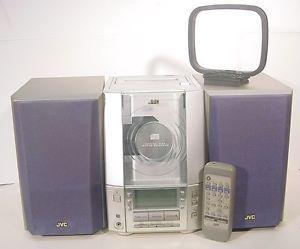 JVC Shelf Compact Audio System CD Player Cassette Deck Am FM Radio