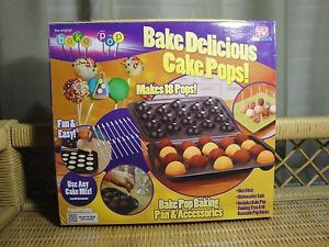 New Bake Pop Cake Baking Pan Accessories as Seen on TV New