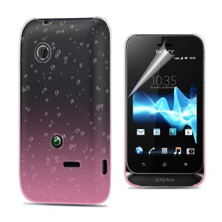 3D Rain Drop Design Hard Case Cover for Sony ST21I Xperia Tipo Film