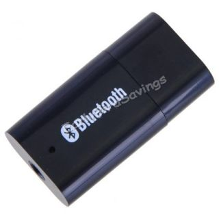 Black USB Bluetooth Wireless 3 5mm Stereo Audio Music Receiver Adapter A2DP V1 2