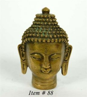 Chinese Bronze Buddha Head Statue God Buddhist Deity Shakyamuni Gift New 3 75""