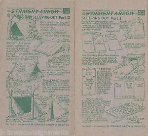 Native American Indian Camping Sleeping Out Guide Vintage 1950s Graphic Ad Cards