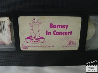 Barney in Concert VHS Barney The Dinosaur
