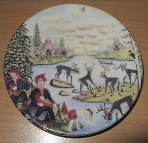 Signed Arabia Finland Plate Andreas Alariesto of Lapland Wall Plate Folk Art 42