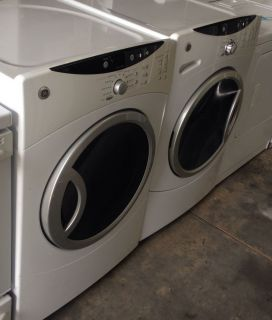 4652 GE Washer Dryer Set Front Loading 3 7 7 0 CU ft Capacity White