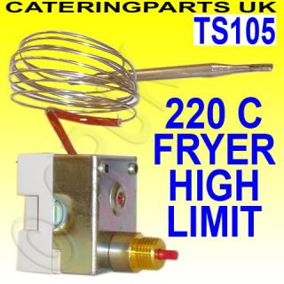 TS105 Fryer High Limit Safety Cut Out Thermostat 220 Deg C Campini Ty 95H 95 H