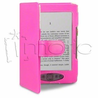 Funda Cuero Piel Para  Kindle 4 Color Rosa Con Interior Floral