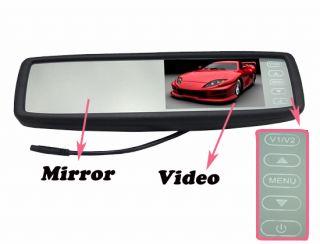 "4 3"" TFT LCD Car Rear Monitor Touch Screen 2 4G Wireless Car Camera Night Vision"
