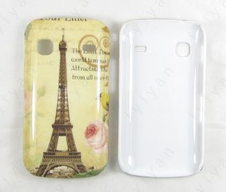 Paris Tour Eiffel Tower Flower Hard Cover Case for Samsung Galaxy Gio S5660