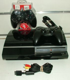 Sony PlayStation 3 CECH G02 Black Video Game Console PS3 2X Controllers from 99