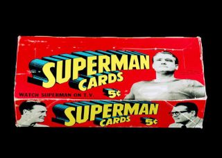 1966 Topps Superman TV Display Box 5x7 Color Photo