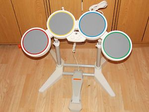 Nintendo Wii Rock Band Guitar Hero Drum Set Kit Controller USB Wired Works Well