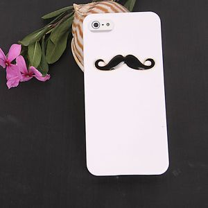 Glossy Beard Chaplin Dumb Show Sexy 3D Mustache Hard Case Cover for iPhone 5 5th