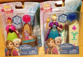 "Disney Frozen 4"" Magiclip Mini Dolls Anna Elsa with Accessories"