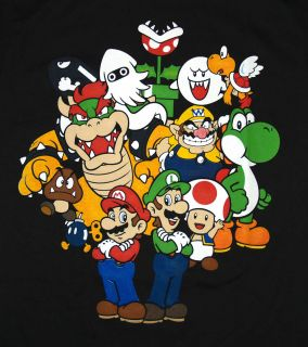 Super Mario Bros Nintendo Old School Cast Video Game T Shirt Tee Small