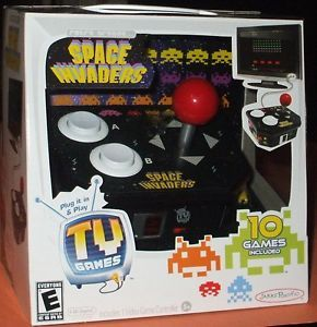 New Retro Arcade Space Invaders Video TV Game Plug Play 10 Games Included N