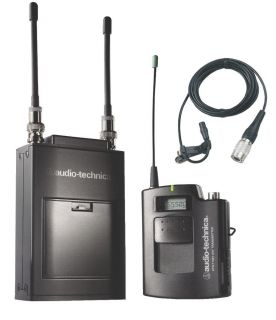 Audio Technica ATW 1821D Portable UHF Dual Body Pack Wireless Microphone System