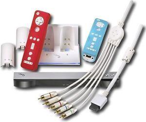 Rocketfish Wii Accessory Starter Kit Remote Charger Sensor Bar Cable Nintendo
