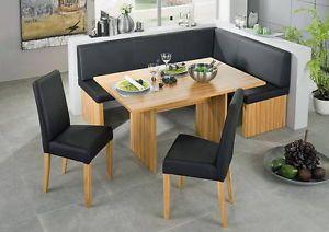 black leather dining set kitchen booth breakfast nook corner bench