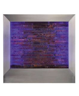 Large Wall Water Fountain Indoor Art Feature Wall Mount Changing Color Waterfall