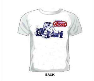 Vintage Gasser Drag NASCAR Sprint Midget Race T Shirt Ascot Raceway Sprint Car