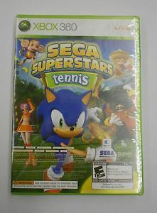 New Xbox 360 Sega Superstars Tennis and Xbox Live Arcade Game Segatennis