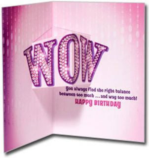 Showgirl Cat Stand Out Pop Up Birthday Card Greeting Card by Avanti Press