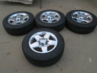 "20"" GMC Denali 2500HD Factory Wheels Rims and Goodyear Tires LT265 60R20"