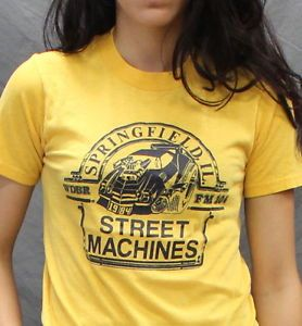 Vintage Street Machines 80s Hot Rods T Shirt Soft Thin Small