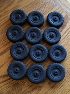 "12 Hubley Toy Truck Tires New Old Stock""not Reproduction"""