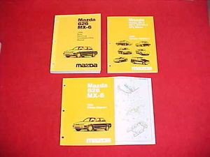 1996 Mazda 626 MX 6 MX6 Service Body Electrical Shop Manual 96 Wiring Diagrams