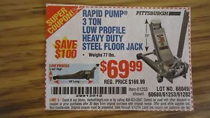 Harbor Freight Super Coupon For A 1 5 Ton Floor Jack With Rapid Pump